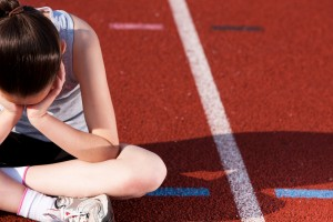 discouraged athlete