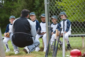 little league team playing ball