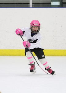female hockey player
