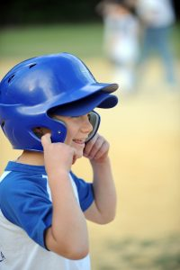 baseball kid tunes parents out